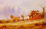 Road Wall Art - A Coach And Four On The Open Road