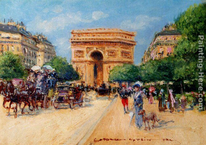 Georges Stein A Sunny Day In Paris