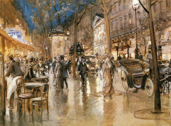 Georges Stein Evening on a Parisian Boulevard