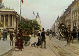 Georges Stein Rue du Colisee painting