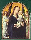 Mary Wall Art - Mary and Child with two Angels Making Music