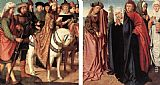Gerard David - Pilate's Dispute with the High Priest; The Holy Women and St John at Golgotha