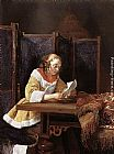 Reading Wall Art - A Lady Reading a Letter