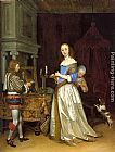 Gerard ter Borch - A Lady at her toilette