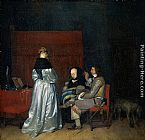 Gerard ter Borch - Gallant Conversation; known as The Paternal Admonition'