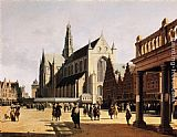 Church Wall Art - The Marketplace and Church at Haarlem