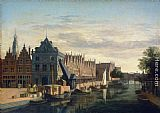 House Wall Art - The Weigh-House and Crane on the Spaarne at Haarlem