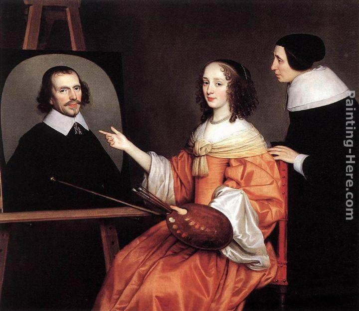 Gerrit van Honthorst Margareta Maria de Roodere and Her Parents