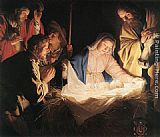 Gerrit van Honthorst Adoration of the Shepherds painting