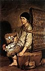 Basket Wall Art - Boy with a Basket