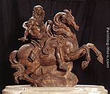King Wall Art - Equestrian Statue of King Louis XIV