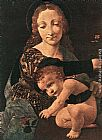Vase Wall Art - Virgin and Child with a Flower Vase (detail)