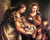 Giovanni Antonio Guardi - Holy Family with St John the Baptist and St Catherine