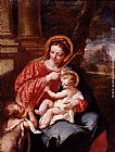 Saint Wall Art - Madonna And Child With Saint John The Baptist