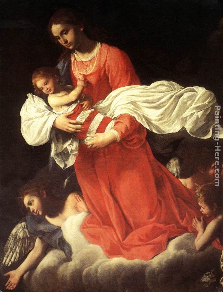 Giovanni Baglione The Virgin and the Child with Angels