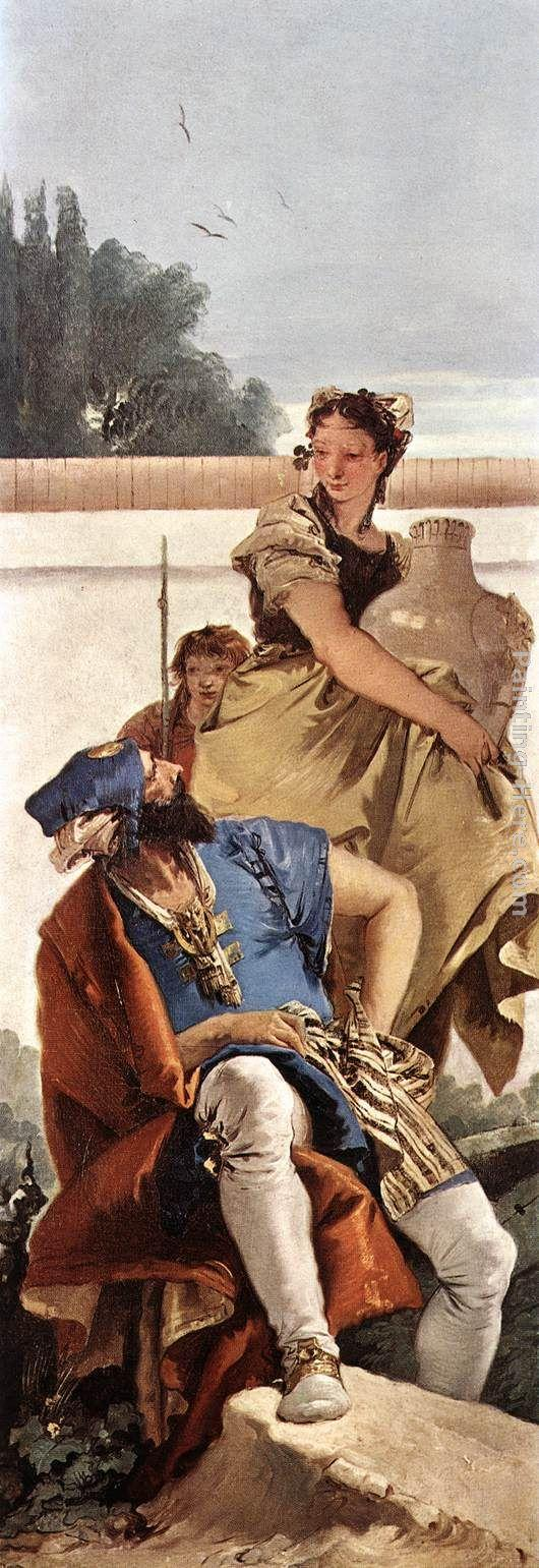 Giovanni Battista Tiepolo A Seated Man and a Girl with a Pitcher