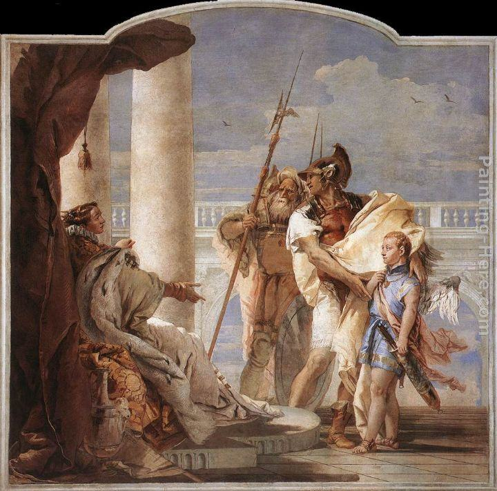 Giovanni Battista Tiepolo Aeneas Introducing Cupid Dressed as Ascanius to Dido