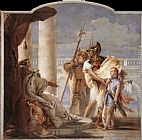 Giovanni Battista Tiepolo Famous Paintings - Aeneas Introducing Cupid Dressed as Ascanius to Dido