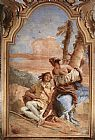 Giovanni Battista Tiepolo Angelica Carving Medoro's Name on a Tree painting