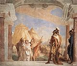Giovanni Battista Tiepolo Canvas Paintings - Eurybates and Talthybios Lead Briseis to Agamemmon