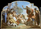 Giovanni Battista Tiepolo Canvas Paintings - John the Baptist Preaching