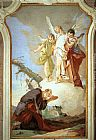 Giovanni Battista Tiepolo The Three Angels Appearing to Abraham painting