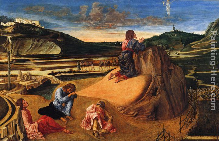 Giovanni Bellini Baptism Of Christ Painting Framed