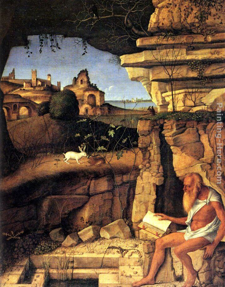 Giovanni Bellini Saint Jerome Reading