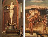 Giovanni Bellini Four Allegories Prudence and Falsehood painting