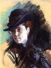 Giovanni Boldini - Girl In A Black Hat