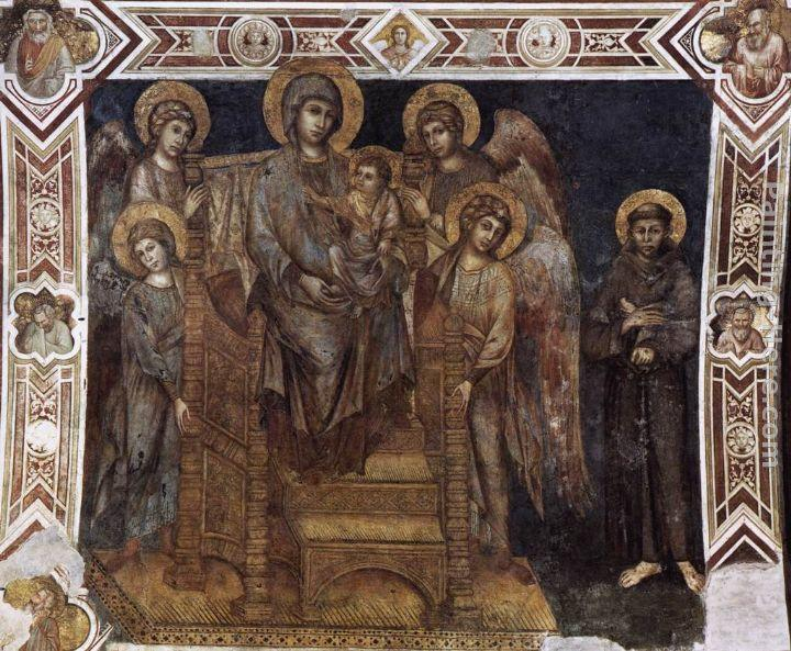 Giovanni Cimabue Madonna Enthroned with the Child, St Francis and four Angels