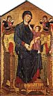 Giovanni Cimabue - Madonna Enthroned with the Child and Two Angels