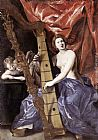 Playing Wall Art - Venus Playing the Harp (Allegory of Music)