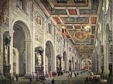 Interior Wall Art - Interior of the San Giovanni in Laterano in Rome