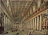 Interior Wall Art - Interior of the Santa Maria Maggiore in Rome