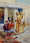Giulio Rosati Carpet Seller painting