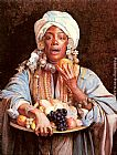 Fruit Wall Art - A North African Fruit Vendor