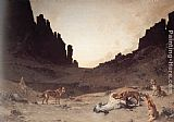 Gustave Achille Guillaumet - Dogs of the Douar Devouring a Dead Hourse in the Gorges of El Kantar