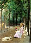 Gustave Leonhard de Jonghe - A Lazy Afternoon