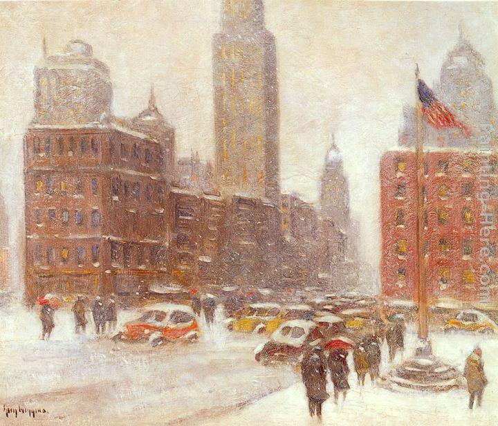 Guy Carleton Wiggins Fifth Avenue At Madison Square