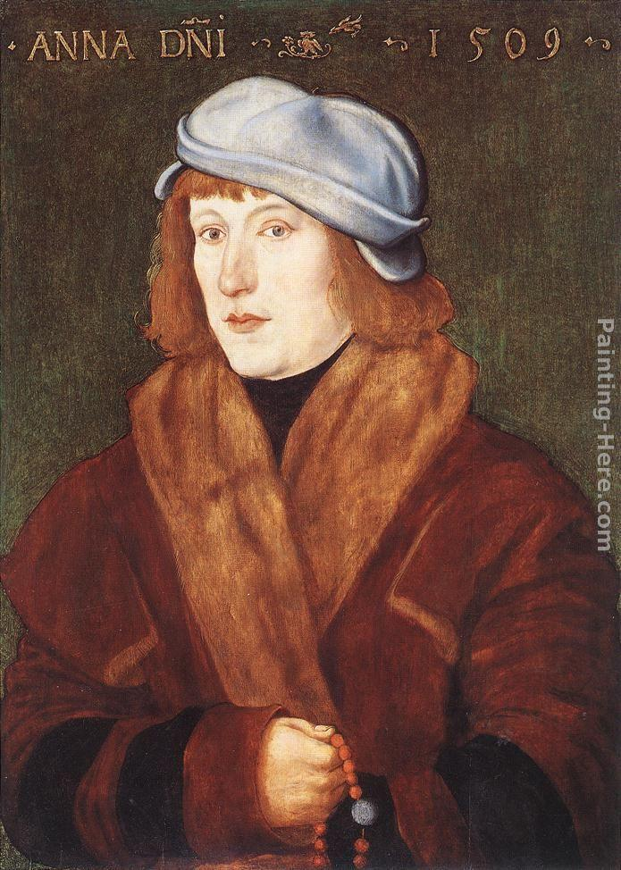 Hans Baldung Portrait of a Young Man with a Rosary