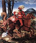 Hans Baldung The Knight, the Young Girl, and Death painting