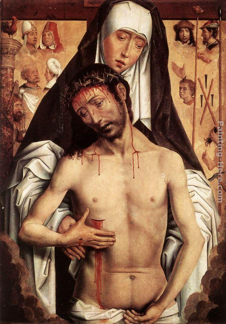 Hans Memling The Virgin Showing the Man of Sorrows