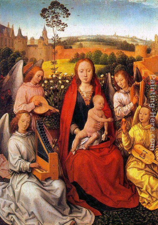 Hans Memling Virgin and Child with Musician Angels