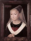 Hans Memling Canvas Paintings - Portrait of a Young Woman