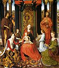 San Wall Art - The Mystic Marriage Of St. Catherine Of Alexandria (central panel of the San Giovanni Polyptch)