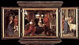 Hans Memling Wall Art - Triptych of Jan Floreins
