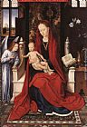 Hans Memling Wall Art - Virgin Enthroned with Child and Angel