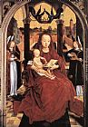 Hans Memling Wall Art - Virgin and Child Enthroned with two Musical Angels