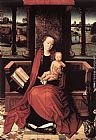 Hans Memling Wall Art - Virgin and Child Enthroned